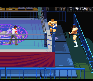 Screenshot Thumbnail / Media File 1 for Jikkyou Power Pro Wrestling '96 - Max Voltage (Japan) [En by Phil v1.0] (Incomplete)